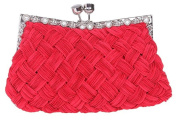 Bettyhome Braided Kiss Lock Purses And Handbag Evening Party Clutches Bag
