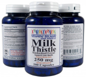 Milk Thistle Standardised Extract - 250mg 200 Capsules