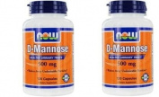 Now Foods By Now D-mannose Healthy Urinary Tract 500 Mg-120 Vcaps x 2