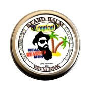 REAL BEARDED MEN 100% Natural Premium Beard Balm 60ml - TROPICAL - Made in USA