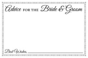 Jot & Mark Wedding Advice Cards for the Bride & Groom, Black & White, 10cm x 15cm , Guestbook Replacement, Pack of 50 Cards