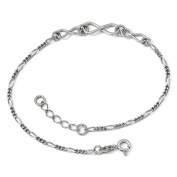 Sterling Silver Infinity Charm Anklet 23cm with Extender