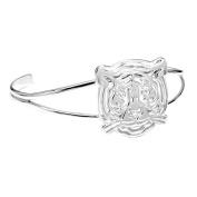 Women's Sterling Silver Tiger Cuff Bracelet