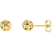 14k Yellow Gold Ball Earrings