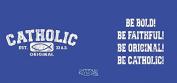 Catholic Original White/Blue Mug