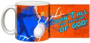 """""""Doing It All"""" Baseball Mug"""