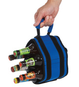6 Pack Jack Royal - Unique Roll Up Neoprene 7 Bottle or Can Carrier With Detachable Koozies