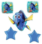Disney Finding Dory Nemo Balloon Bouquet Birthday Party Supplies Favours (5CT