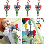 Baby Soft Appease Toys Calm Doll Teether cute Rattle Multifunctional Stroller