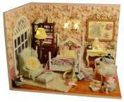 Dollhouse Miniature DIY Kit Wood house Toy & Furniture 1 24 Scale Wood Doll house With LED Light