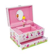 Enchanted Fairy Kids Musical Jewellery Box - Glittery Kids Music Box - Lucy Locket
