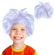Toy Cubby Realistic Soft Costume Cosplay Mad Scientist White Hair Wig