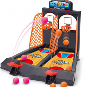 Basketball Shooting Game, YUYUGO® Desktop Table Best Classic Arcade Games Mini Basketball Hoop Set for Children's Development for Kids Age 4+, Fun Activity Toy for Adults-Helps Reduce Stress