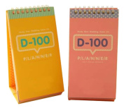 100 Days Countdown To The Present Plan Book Schedules Random Colour