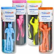 Thin Air Brands Tangle-Free Parachute with Paratrooper in Reusable Storage Tube Assortment, Multicolor