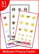 Webcam Cover / Privacy Stickers - camJAMR Variety Bundle #1