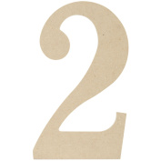 MPI MDF Classic Font Wood Letters and Numbers, 24cm , Number 2