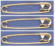 SAFETY PINS Size 2 (3.8cm ) GOLD TONE BULK PK/100 Made in USA