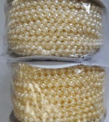 3mm Plastic Pearl String Roll Cream/Ivory 48 Yards