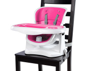 Ingenuity SmartClean ChairMate Chair Top High Chair, Magenta