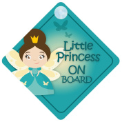LP015 Little Princess On Board Car Sign New Baby / Child Gift / Present / Baby Shower Surprise