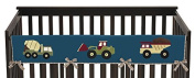 Sweet Jojo Designs Construction Zone Trucks Long Front Rail Guard Baby Teething Cover Crib Protector Wrap