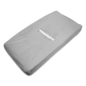 TL Care Heavenly Soft Chenille Fitted Contoured Changing Pad Cover, Grey