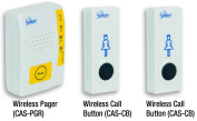 Secure Caregiver Vibrating Pager with Two (2) Wireless Nurse Call Buttons - Batteries Included - One Year Warranty