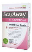 ScarAway C-Section Scar Treatment Strips, Silicone Adhesive Soft Fabric (18cm X 3.8cm )