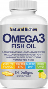 Natural Riches Omega 3 Fish Oil - 180 Softgel