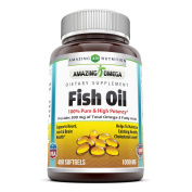 Amazing Omega Fish oil 1000 mg,400 Softgels- Purest & Best Quality Fish Oil * Rich in Omega-3 Fatty Acids * Supports Cardiovascular Health, Brain Health, Respiratory Health & Overall Well-Being