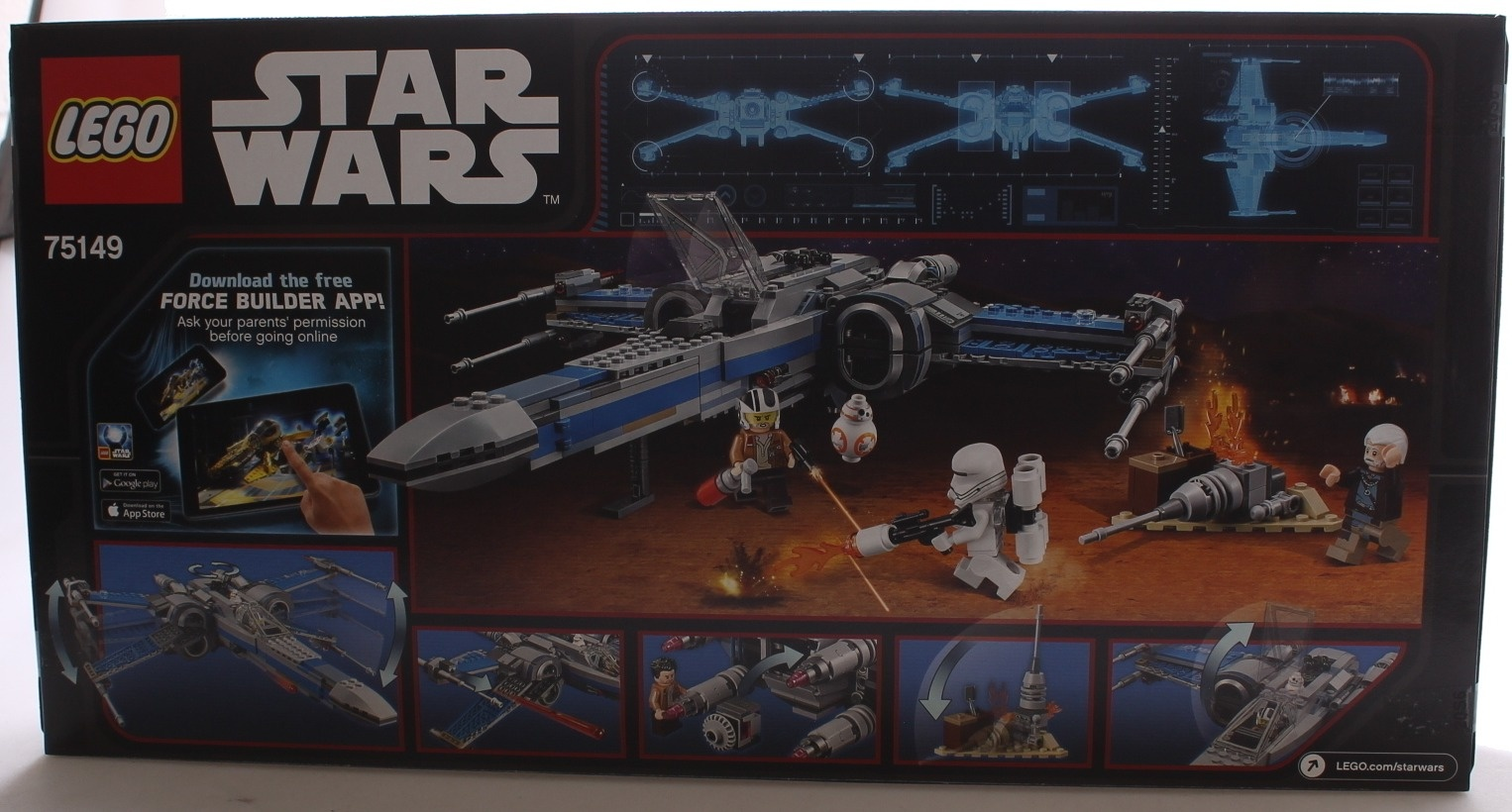 Lego Star Wars 75149 Resistance X Wing Fighter Lego Shop Online