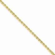 """Solid 14k Yellow Gold 2.00mm Light Wheat Anklet 10"""""""