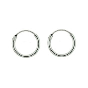 Comfort Fit 925 Sterling Silver Small Endless Hoop Earrings for Cartilage, Nose and Lips, 3/8 Inch