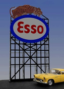 6071 Large Esso Animated Lighted Roadside Billboard by Miller Signs
