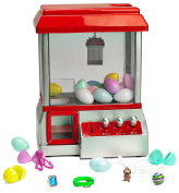 Prextex Toy Filled Electronic Claw Game - With Toy Filled Eggs Toy Grabber Machine Arcade Game with Sound