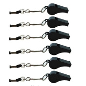 Biowow 6pcs Sport Coach Emergency Loud Whistles Sifflement with Lanyard by Biowow