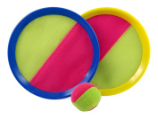 HOMEFUN Hook and loop Toss and Catch Sports Game Set for Kids with Grip Mitts & Bean Bag Ball