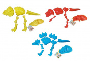 ToyZe® 3 Large Dinosaur Sand Moulds, Dinosaur Fossil Skeleton Beach Toy Set