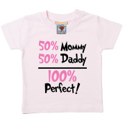 Bullshirt's 50% Mommy, 50% Daddy, 100% Perfect Short Sleeve Baby/Toddler T-Shirt