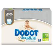 Dodot Sensitive Nappies, Size 3 (5 - 10 kg) - 40 Nappies