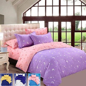 Saver 4pcs Bedding Suit Polyester Fibre Star Moon Reactive Printed Bedding Sets