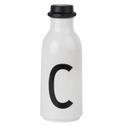 Design Letters AJ Water Bottle with letter - C