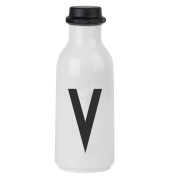 Design Letters AJ Water Bottle with letter - V