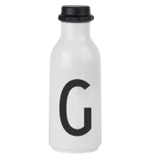 Design Letters AJ Water Bottle with letter - G