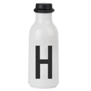 Design Letters AJ Water Bottle with letter - H