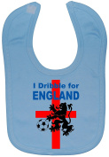 I Dribble For England Baby Feeding Bib Hook and loop Attached 0 to approx 3 Years Football
