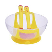 SERDA Baby Stay Put Suction Bowls Unbelievabowl with Fork and Spoon