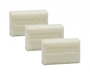 Maison du Savon - Set of 3 Soaps with Shea Butter, Lily of the Valley, 3x125 g