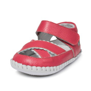 Little Blue Lamb Girls' First Walking Shoes Red melone rot 18-24 Months